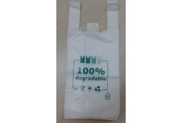 Paquete de 200 Bolsas camiseta 40x60 cms. 100% Degradables