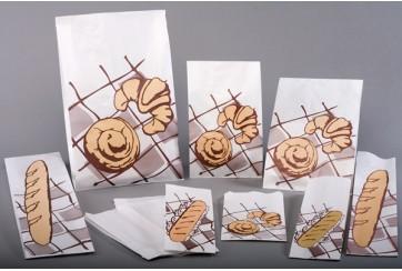 Caja de 1000 Bolsas celulosa 50 gr. blancas 10+5x26 cms. Nº1