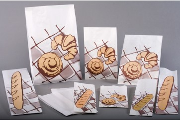 Caja de 1000 Bolsas celulosa 50 gr. blancas 14+6x30 cms. Nº2