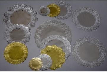 Paquete de 500 Rodales calados Ø26 cms. Plata