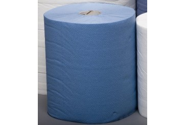 Saco de 6 Rollos secamanos 2 capas azul laminada